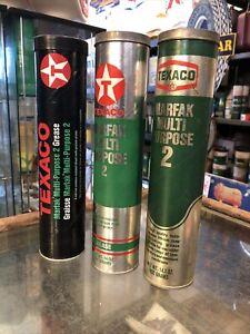 Texaco Cardboard Grease Tubes 14 Oz X 3 US
