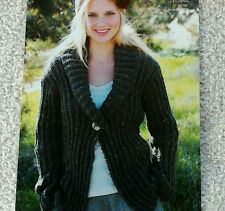 Knitting pattern Ladies Chunky Knit Cardigan 6 sizes