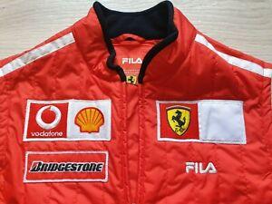 Vintage Rare FILA FERRARI F1 Bridgestone gilet vest F1 Schumacher 2002 Sz S men