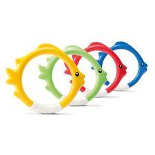 Intex Diving Swimming Pool Kids Toy Play Underwater Fish Rings Sticks, 4 Pack