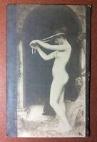 "Tsarist Russia postcard 1910s ""Venus hairstyle"" Beautiful nude goddess VENUS"