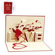 3D Pop Up Card Love Tree Heart Lover Wedding Greeting Gift New Happy Hot Cards