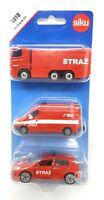 Siku Poland Edition #1818 Fire Brigade Set Truck Van VW Fire Vehicle blister