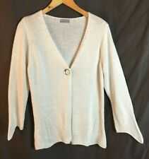 PER UNA M&S Cardigan -L  Large 16 18 -Off White Ivory Knitted top Long sleeve -Z