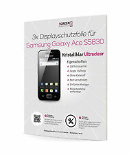3x Samsung S5830 Galaxy Ace Displayschutzfolie UltraClear Schutzfolie
