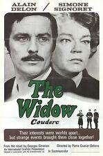 La VEUVE COUDERC The WIDOW 1 sheet movie poster 27x41 ALAIN DELON SIGNORET