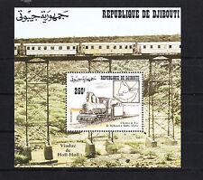 Djibouti  timbre  bloc  chemin de fer  train locomitive   num: BF 8  **