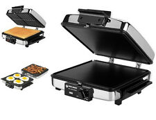 Grilled Sandwich Maker Press Toaster Breakfast Waffle Removable Plates Electric