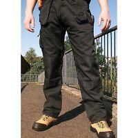 Blackrock Workman Mens Cargo Combat Trousers Pants Knee Pad Pockets Black Navy
