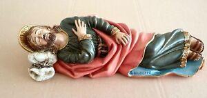 SAN GIUSEPPE DORMIENTE - statua in resina e marmo polverizzato - lunghezza cm 20