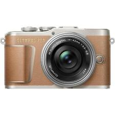 Olympus PEN E-PL9 Mirrorless Camera Brown + 14-42mm EZ Lens - Silver