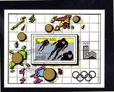 BURKINA FASO #537  1980  OLYMPICS  LAKE PLACID  F-VF  USED