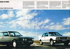 PUBLICITE ADVERTISING 074  1986  BMW  les DIESEL 324 & 524 ( double page