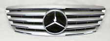 Mercedes S Class W220 03-06 Front Hood Sport 5 Fin Silver Chrome Grill Grille