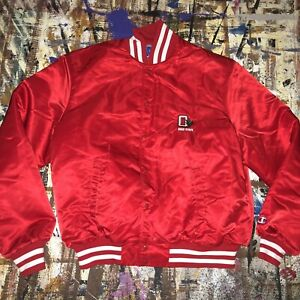 Vintage 1990s Champion Made in USA Ohio State Buckeyes Red Men XXL Satin Jacket