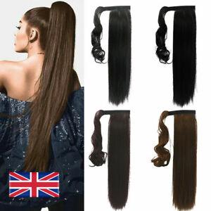 Real Natural As Human Hair Extensions Wrap Ponytail Beautiful Lustrous UK