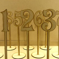 Freestanding Wooden Table Numbers  Balloon Weights - Wedding - Craft MDF