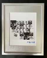ANDY WARHOL + 1984 SIGNED RETROSPECTIVE POP ART MATTED TO BE FRAMED AT 11X14