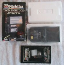 NISHIKA TWIN LIGHT 3010 VARIABLE ANGLE ELECTRONIC FLASH FOR N8000 *NEVER USED*