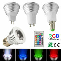 16 Colors Changing RGB MR16 E27 E14 GU10 LED Light Bulb Lamp+IR Remote Control