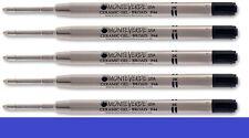 5 - MONTEVERDE Ballpoint Parker Style GEL Pen Refill - BROAD / BOLD - BLUE