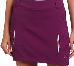 PUMA Purple Woven Dry Cell Golf Athletic Skort Sz 4