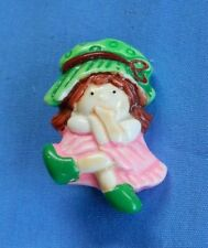Child's Plastic Pin Girl in Pink Dress