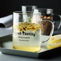 Romance Love theme Heat Resistant Borosilicate glass coffee mug with lid gift