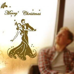 60cm Tall Dancing Couple Christmas Waterproof Shop Window Sticker Wall Decorate