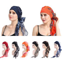Womens Bandana Head Scarf Turban Pre-Tied Headwear Chemo Hat Fashion  IHS