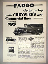 Fargo Light Delivery Truck PRINT AD - 1929 ~~ trucks