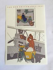 GERMANY BRD FRD 1997 MNH MINISHEET STAMP DAY FLUGPOST AIRPLANE POSTMAN