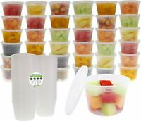 36-Pack 16oz Food Grade Plastic Meal Prep & Storage Containers w/ Airtight Lids