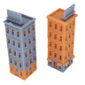 Outland Models Railroad Scenery Downtown Apartment Set (Corner) Z Scale 1:220