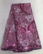 "STRETCH LACE FABRIC PERIWINKLE  54/"" WIDE BY THE YARD PAGEANT FORMAL DRESS"