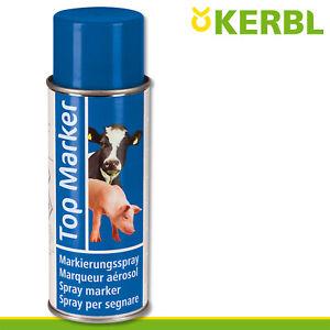 Kerbl 500ml Viehzeichenspray Top Marker blau Markierung Weide Stall Schweine Kuh