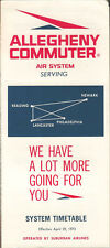 Suburban Airlines Allegheny Commuter system timetable 4/29/73 [5044]