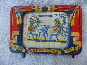 Rare Vintage 1953 coronation tin plate toy wind on view of coronation working.