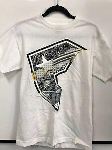 BNWOT FAMOUS STARS & STRAPS Bling Tee White Short Sleeve T-Shirt - Mens Small