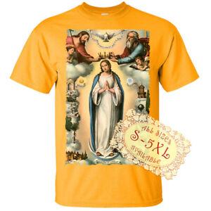 Holy Trinity V13 Jesus God Son Holy Spirit Print DTG T SHIRT All sizes S-5XL