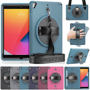 """Rotate Stand Case Screen Cover Strap For iPad 10.2"""" 8th 7th 6th 5th Gen Mini Air"""
