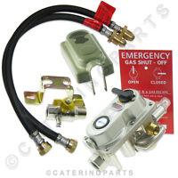 2 BOTTLE CONNECTOR AUTO CHANGE OVER LP LPG PROPANE GAS REGULATOR OPSO + HOSES