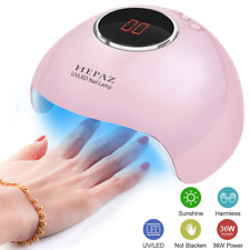 Nail Lamp for Gel Polish,36W 15 Led Professional Dryer Uv with 3 Timer Setting,A