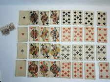 Jeu cartes à jouer ancien B.P Grimaud & compte-point - Antic playing cards