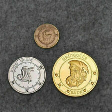 3Pcs Coins Harry Potter Hogwarts Gringotts Bank Wizarding Galleons Commemorative