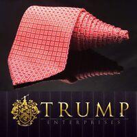 DONALD J. TRUMP~ SIGNATURE COLLECTION Red Checkered NECKTIE POWER TIE