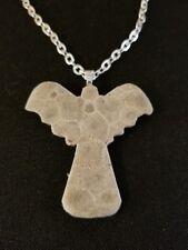 Petoskey Stone Angel Necklace