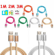 Micro USB Fast Charger Data Sync Cable Braided Cord for Samsung Android 3/6/10ft