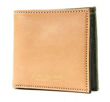 SCOTCH & SODA Canvas / Leather Billfold Wallet Geldbörse Combo A Beige Grün Neu