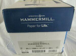 Hammermill Paper Colors Gray 20# 11x17 Ledger 2500 Sheets/5 Ream Case